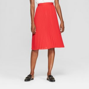 Target Red Pleated Skirt