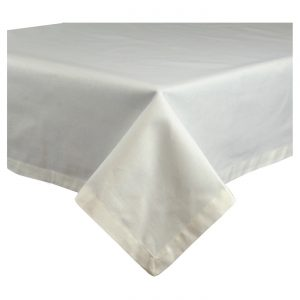 White tablecloth