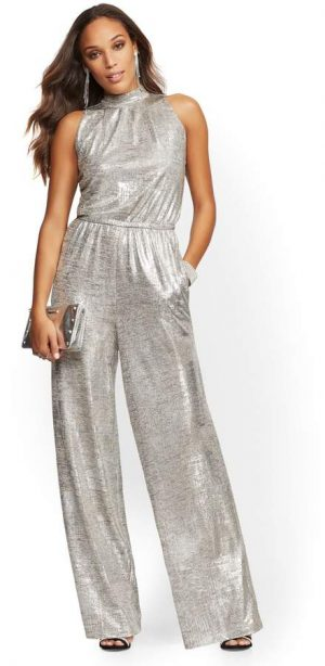 NewYork and Co Gold jumpsuit